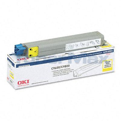 OKIDATA C9600 TONER CARTRIDGE YELLOW